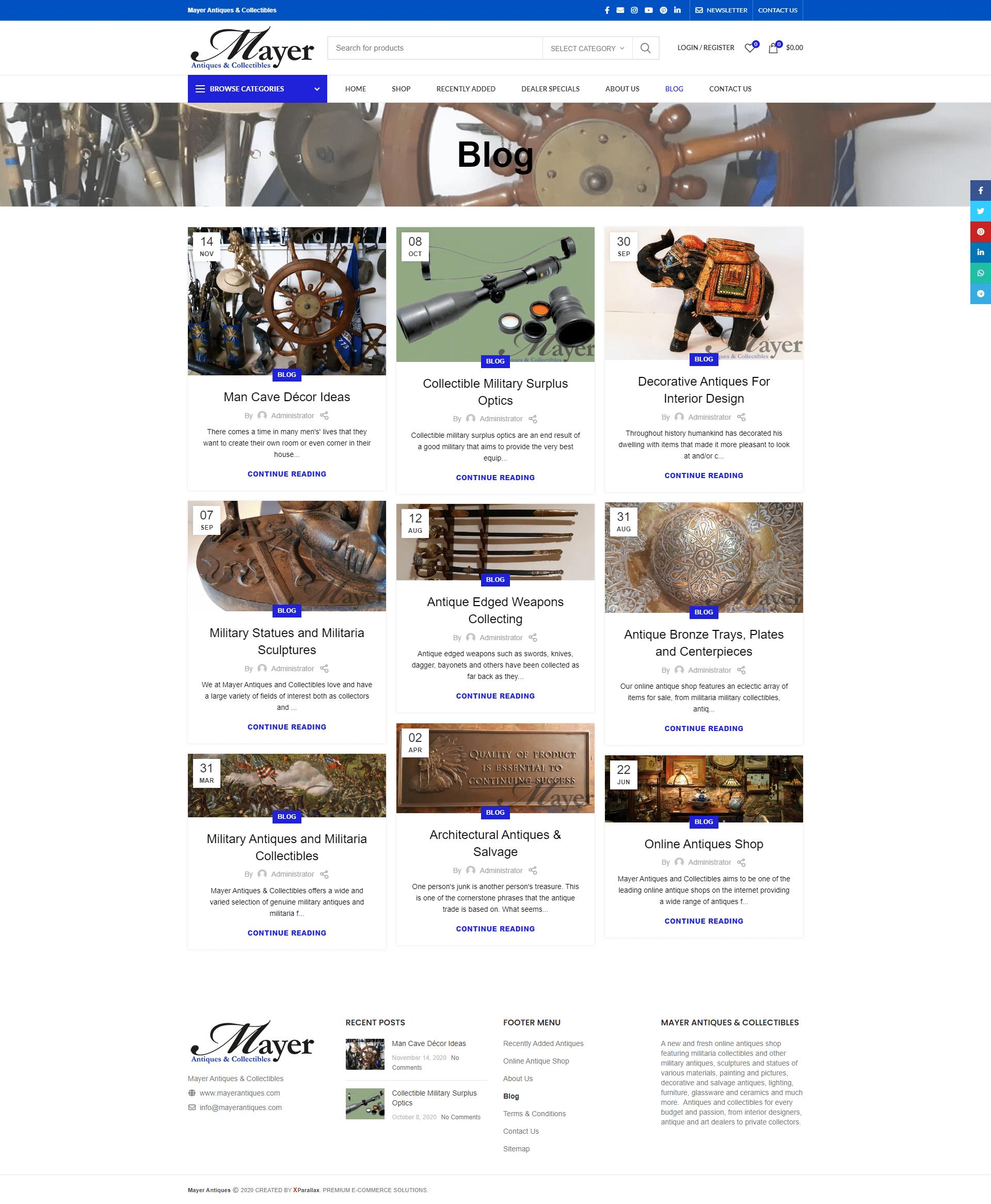 Mayer Antiques & Collectibles - blog